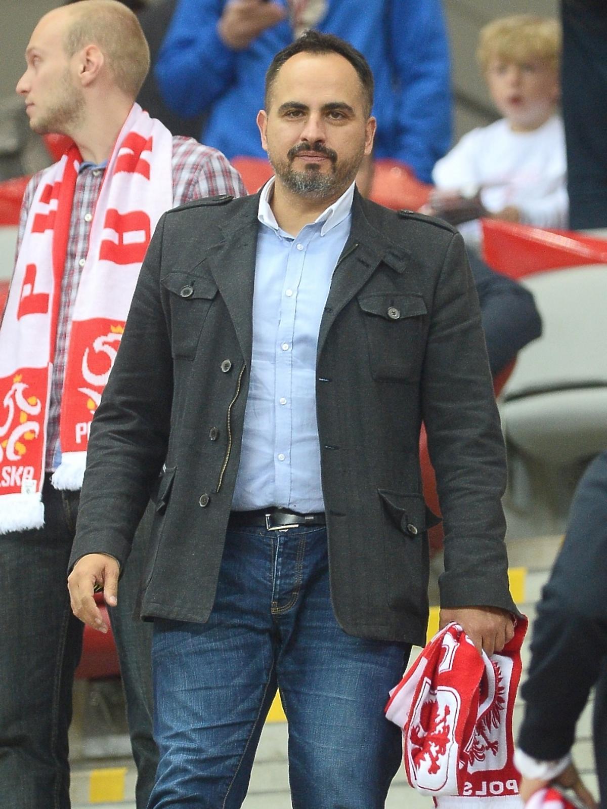 Agustin Egurrola na meczu Polska - Niemcy