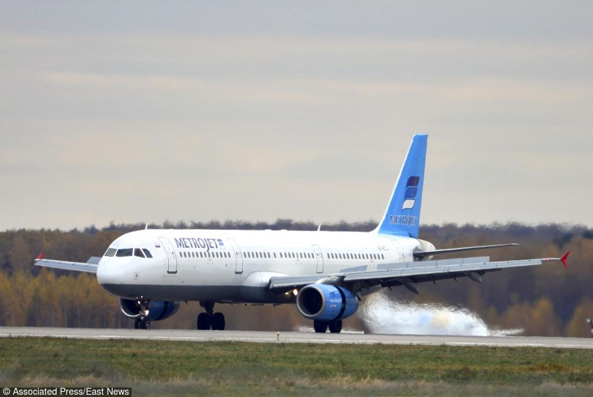 Airbus A-321 rosyjskich linii startuje