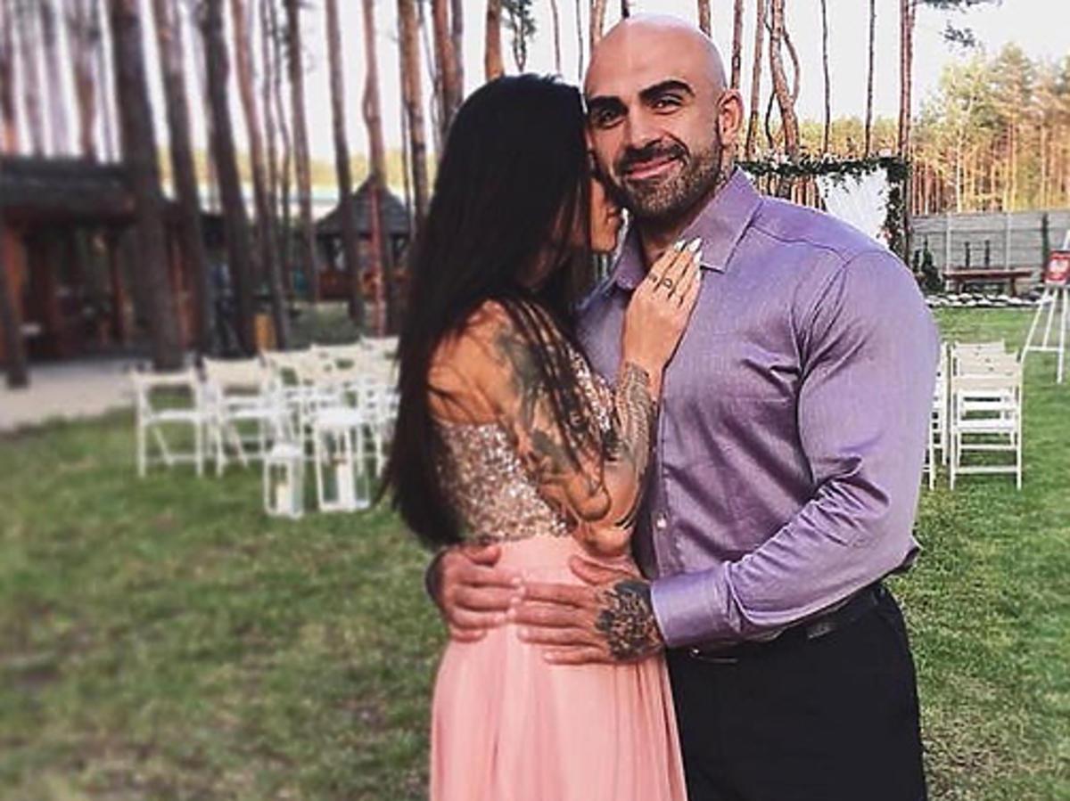 Akop Szostak z żoną