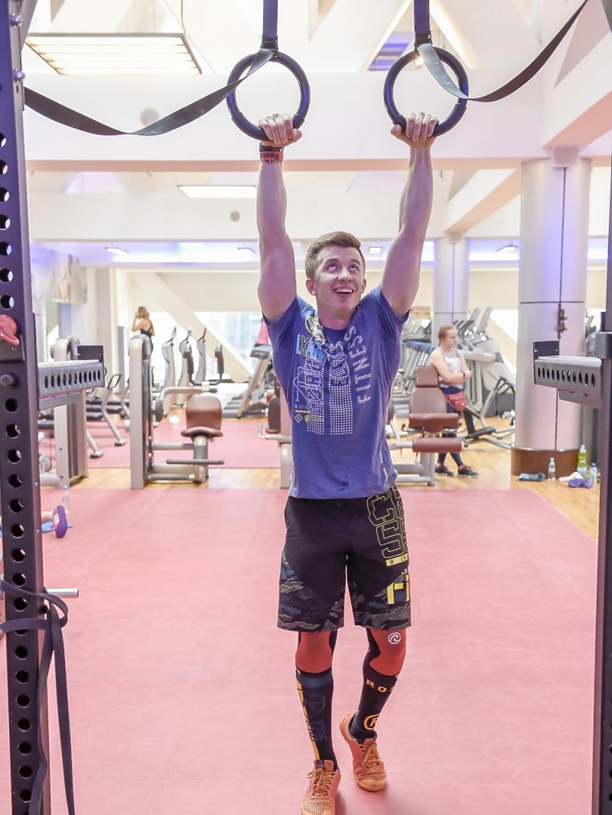 Alan Andersz podczas przygotowań do Reebok Fitness Camp 2015