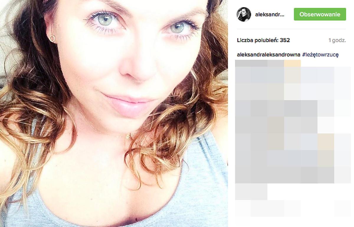 Aleksandra Kwaśniewska bez makijażu
