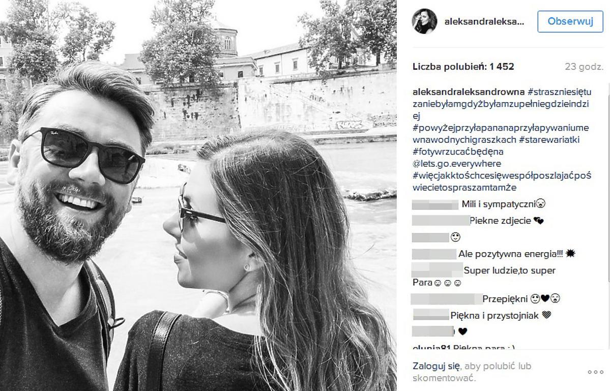 Aleksandra Kwaśniewska pokazała zdjęcie z mężem