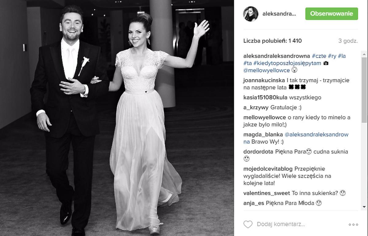 Aleksandra Kwaśniewska świętuje 4. rocznicę ślubu