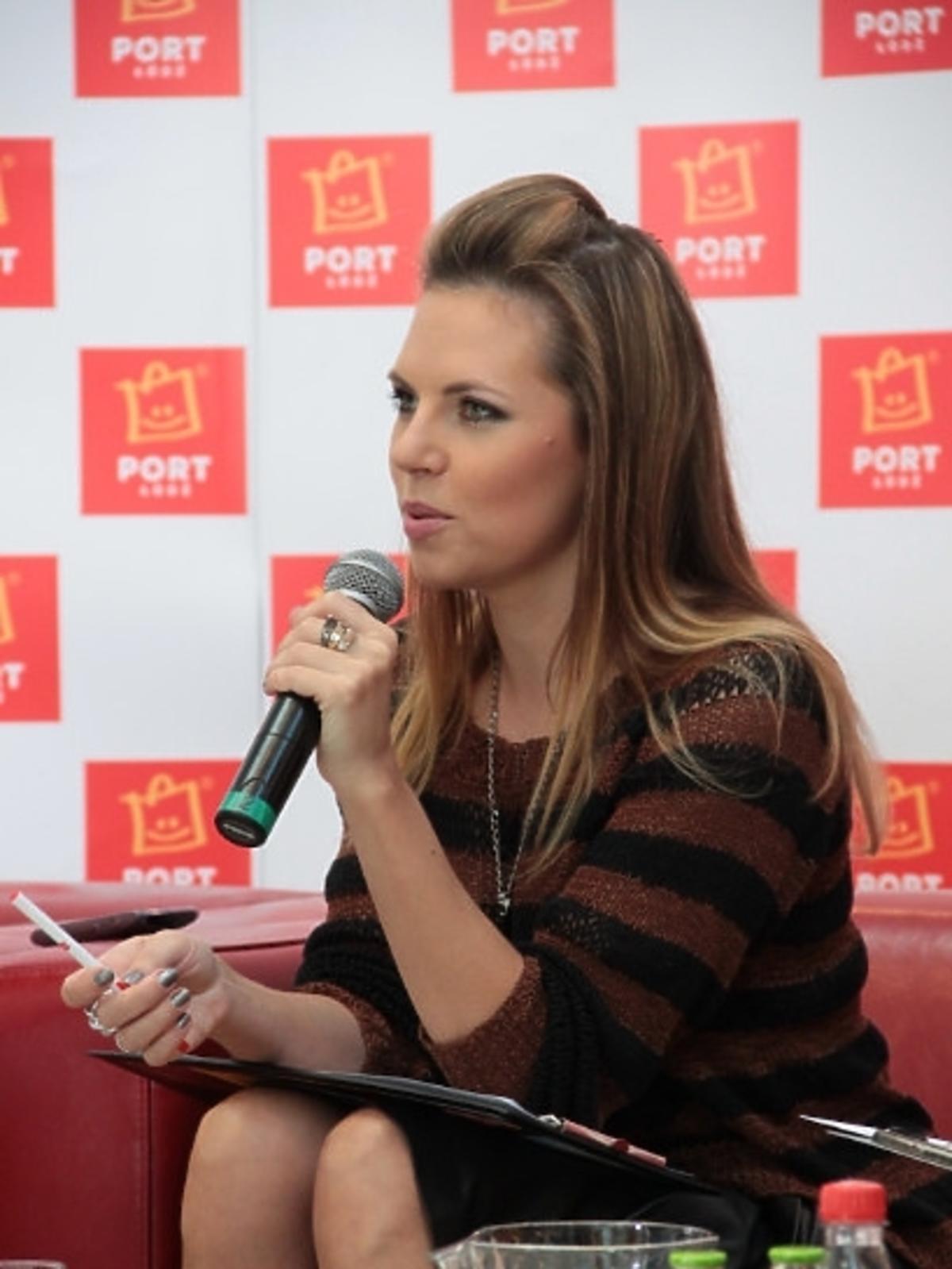 Aleksandra Kwaśniewska w Porcie Łódź
