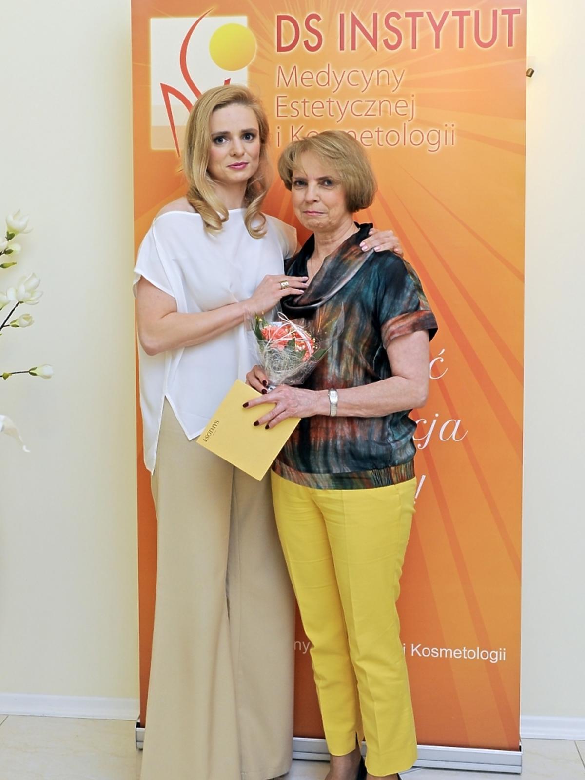 Aleksandra Mikołajczyk z mamą