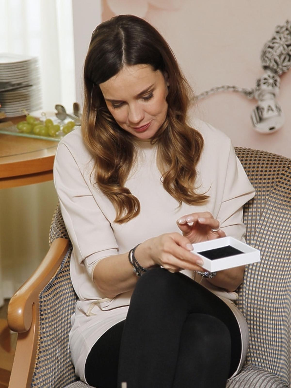 Aleksandra Nieśpielak na prezentacji kolekcji Pandora wiosna/lato 2013
