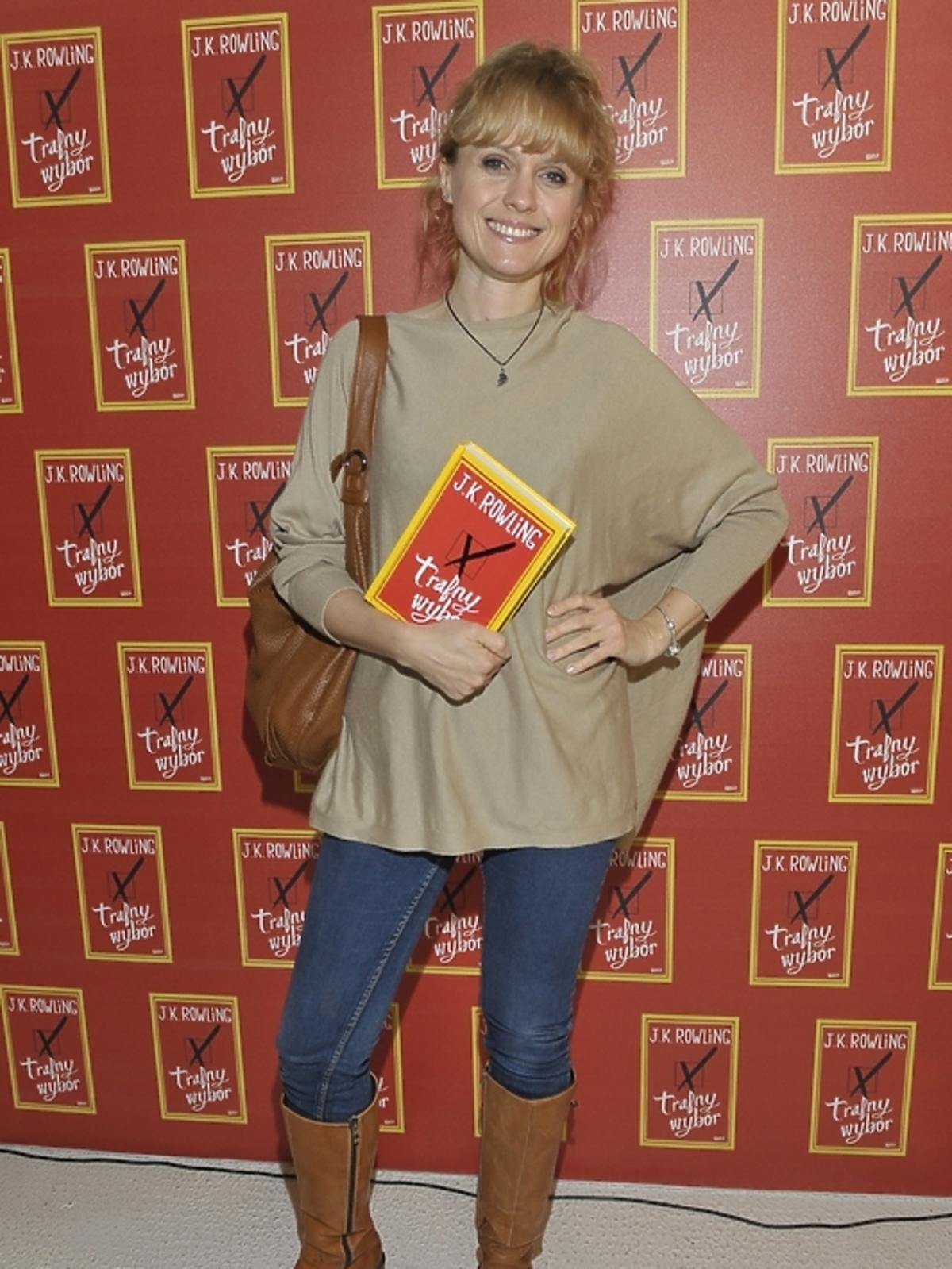 Aleksandra Woźniak na premierze książki J.K.Rowling