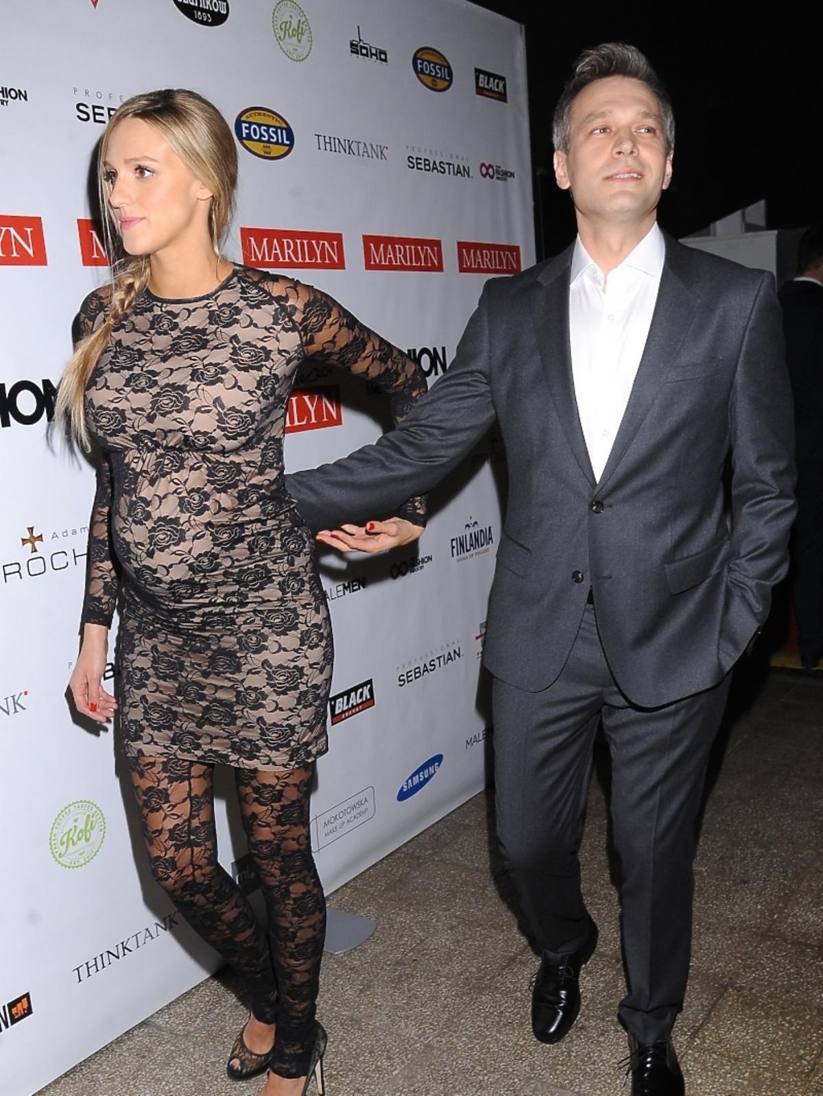 Aleksandra Żebrowska i Michał Żebrowski na gali Fashion Magazine 2013. W którym miesiącu ciąży jest Aleksandra Żebrowska