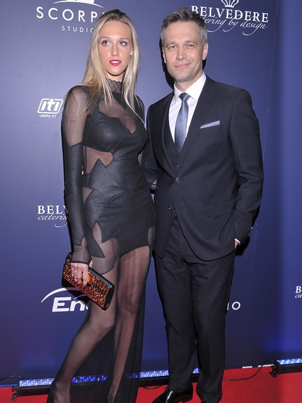 Aleksandra Żebrowska i Michał Żebrowski na premierze filmu