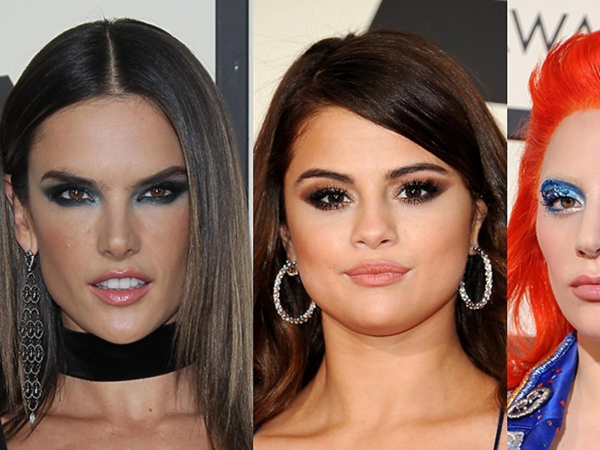 Alessandra Ambrosio, Selena Gomez, Lady Gaga w mocnych makijażach