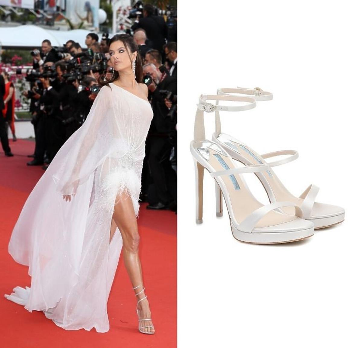 Alessandra Ambrosio ślubne buty trendy 2020 Sophia Webster/ Moliera 2