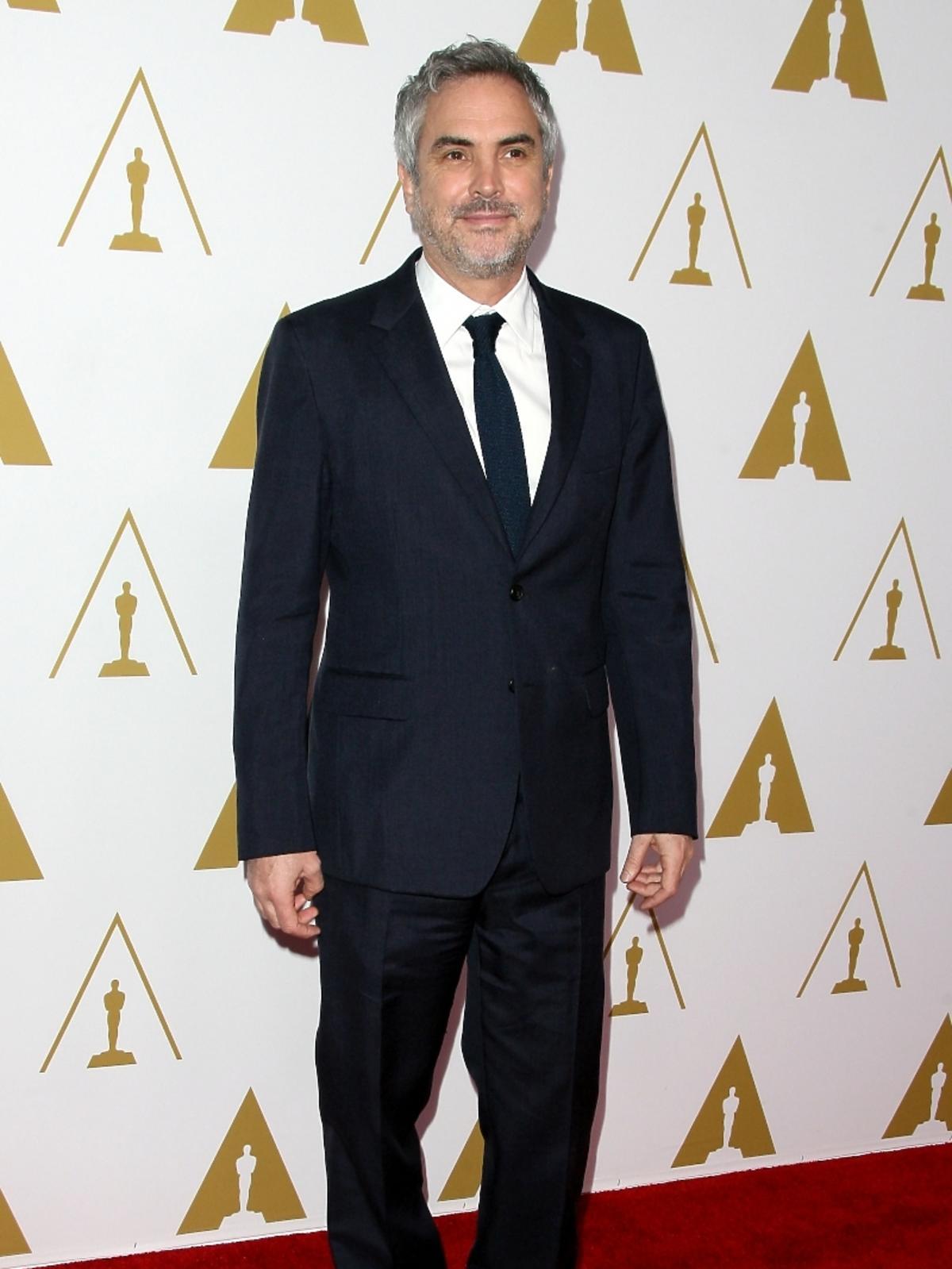 Alfonso Cuaron podczas konferencji prasowej nominacji do Oscarów 2014