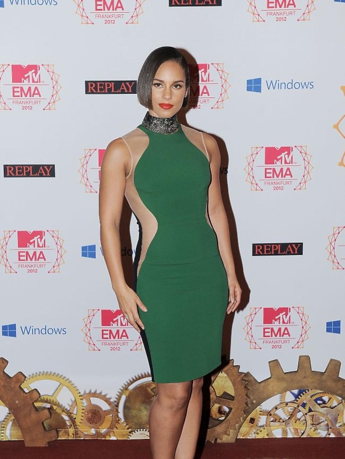 Alicia Keys na gali MTV EMA 2012