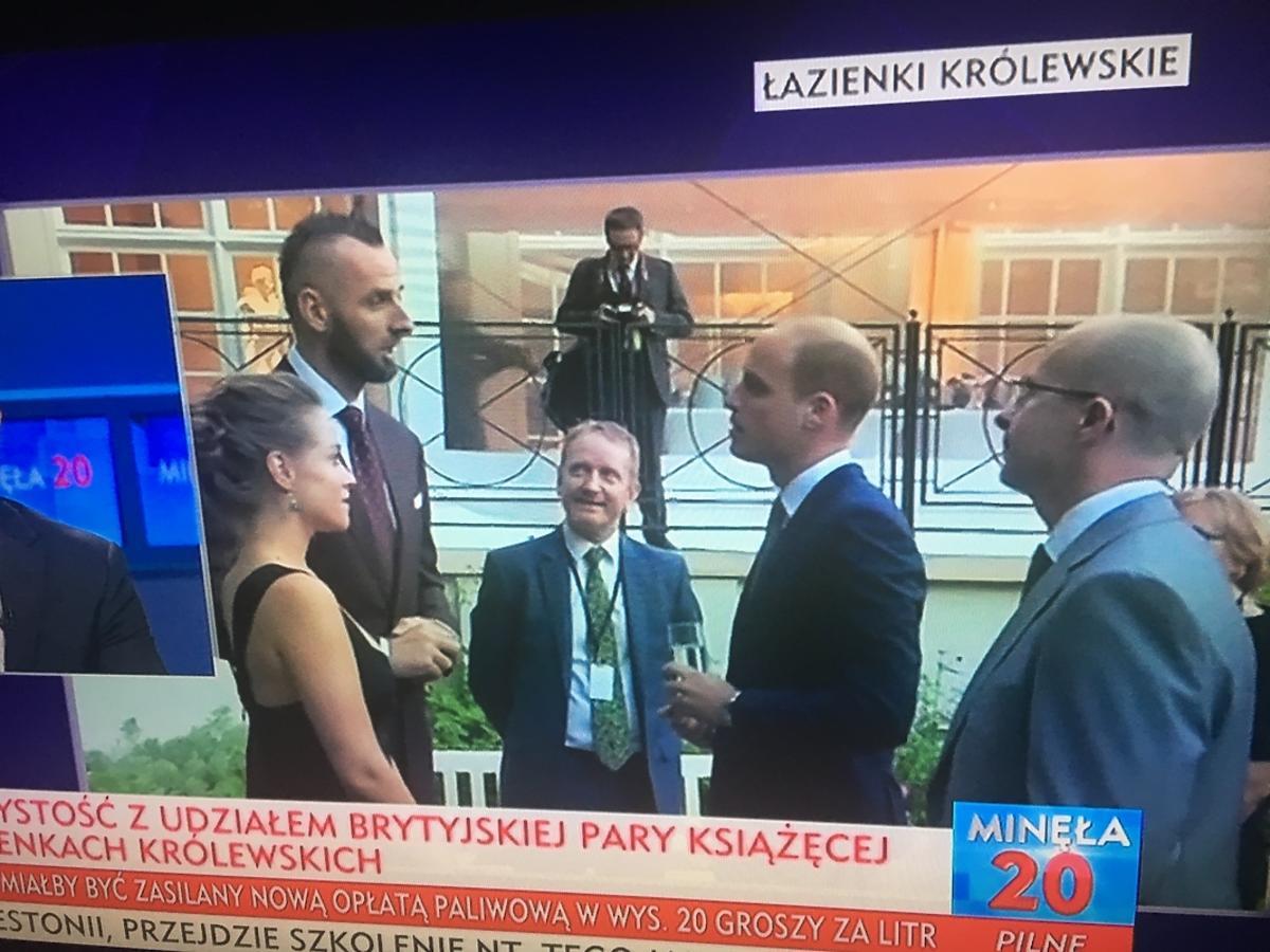 Alicja Bachleda-Curuś i Marcin Gortat na Balu w Łazienkach Królewskich