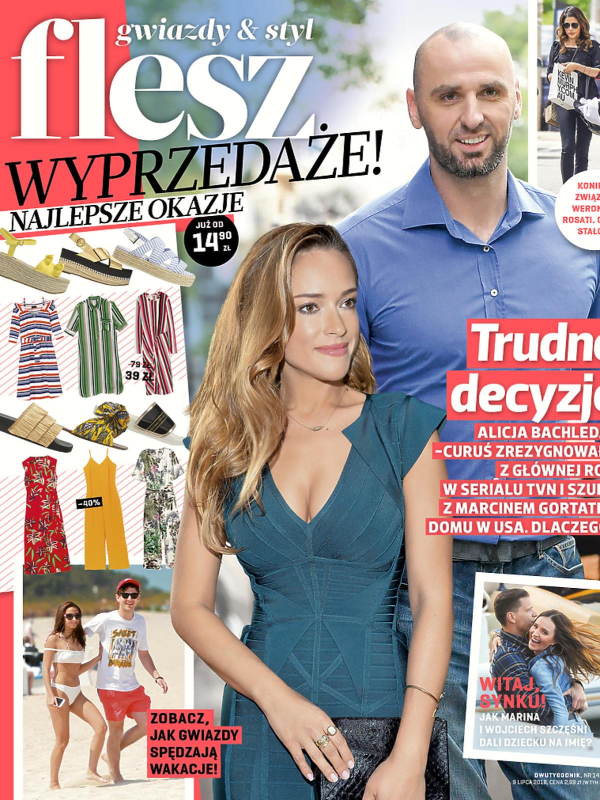 Alicja Bachleda Curuś i Marcin Gortat na okładce Flesza