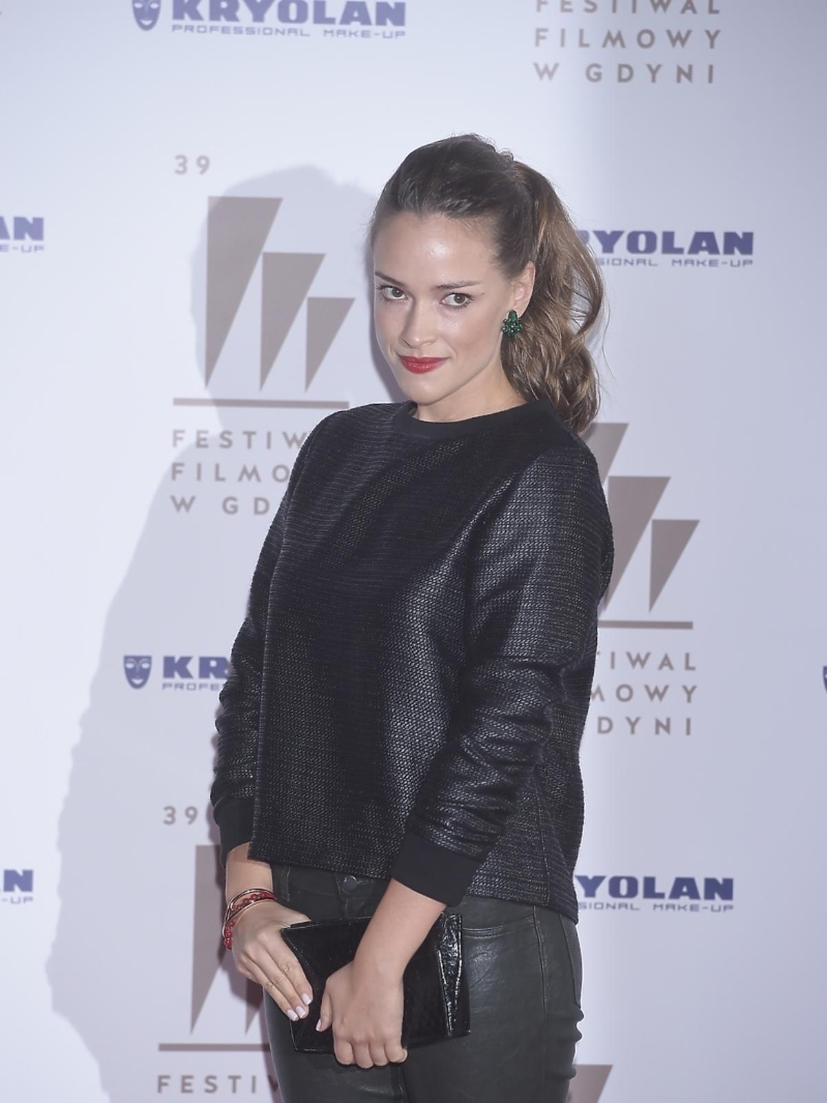 Alicja Bachleda-Curuś na gali wręczenia nagród 39. Festiwalu Filmowego w Gdyni
