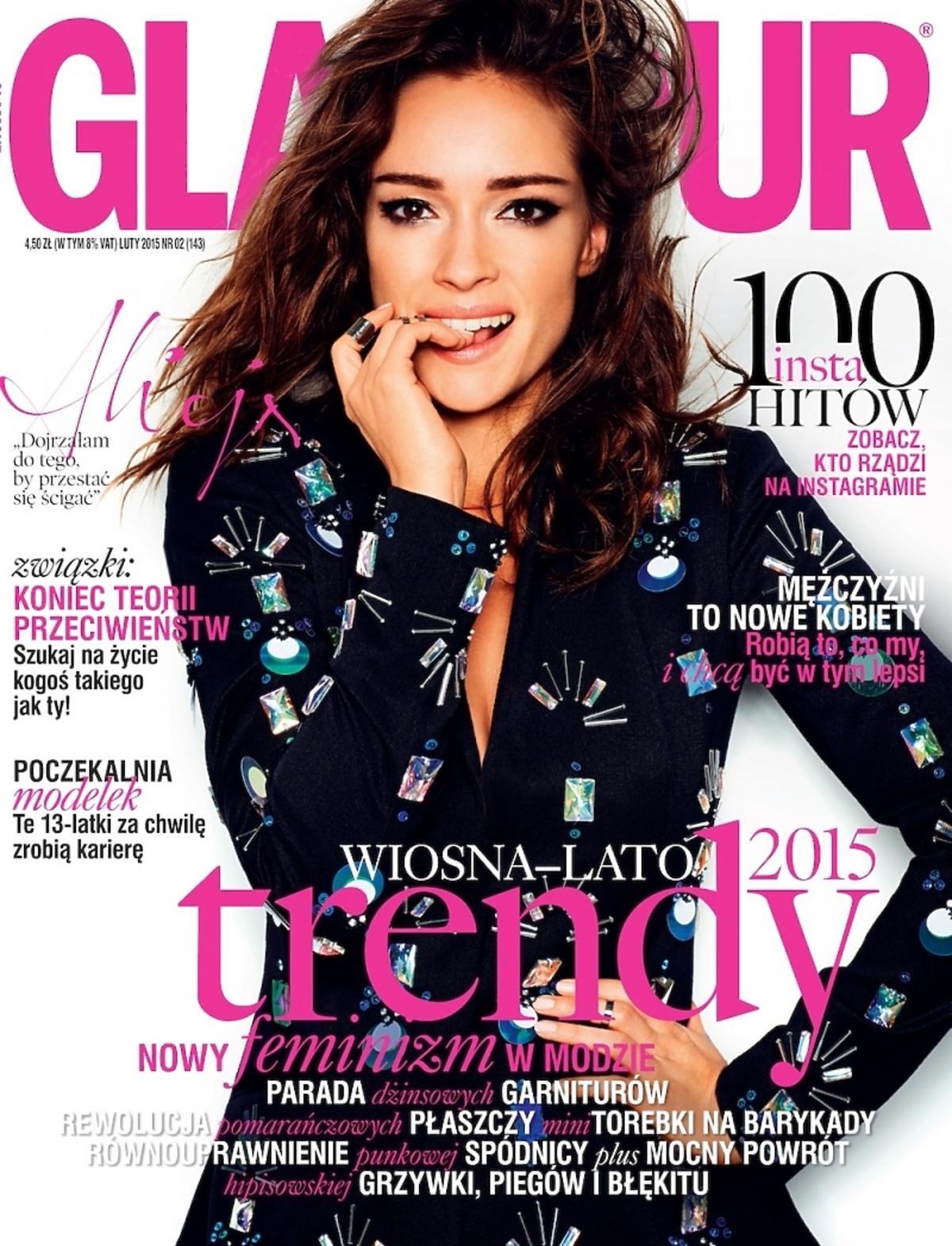 Alicja Bachleda Curuś na okładce Glamour luty 2015