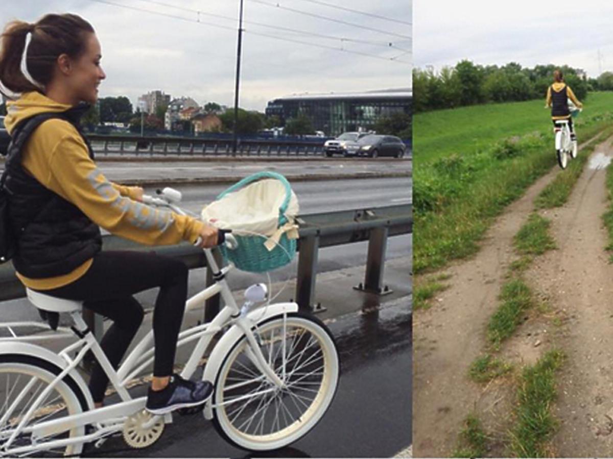 Alicja Bachleda Curuś na rowerach