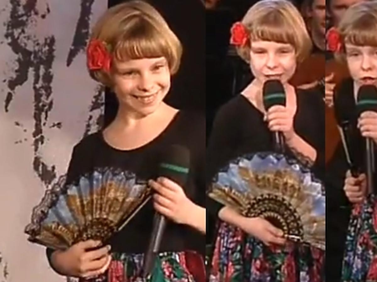 Alicja Janosz w dzieciństwie. Alicja Janosz Margerita