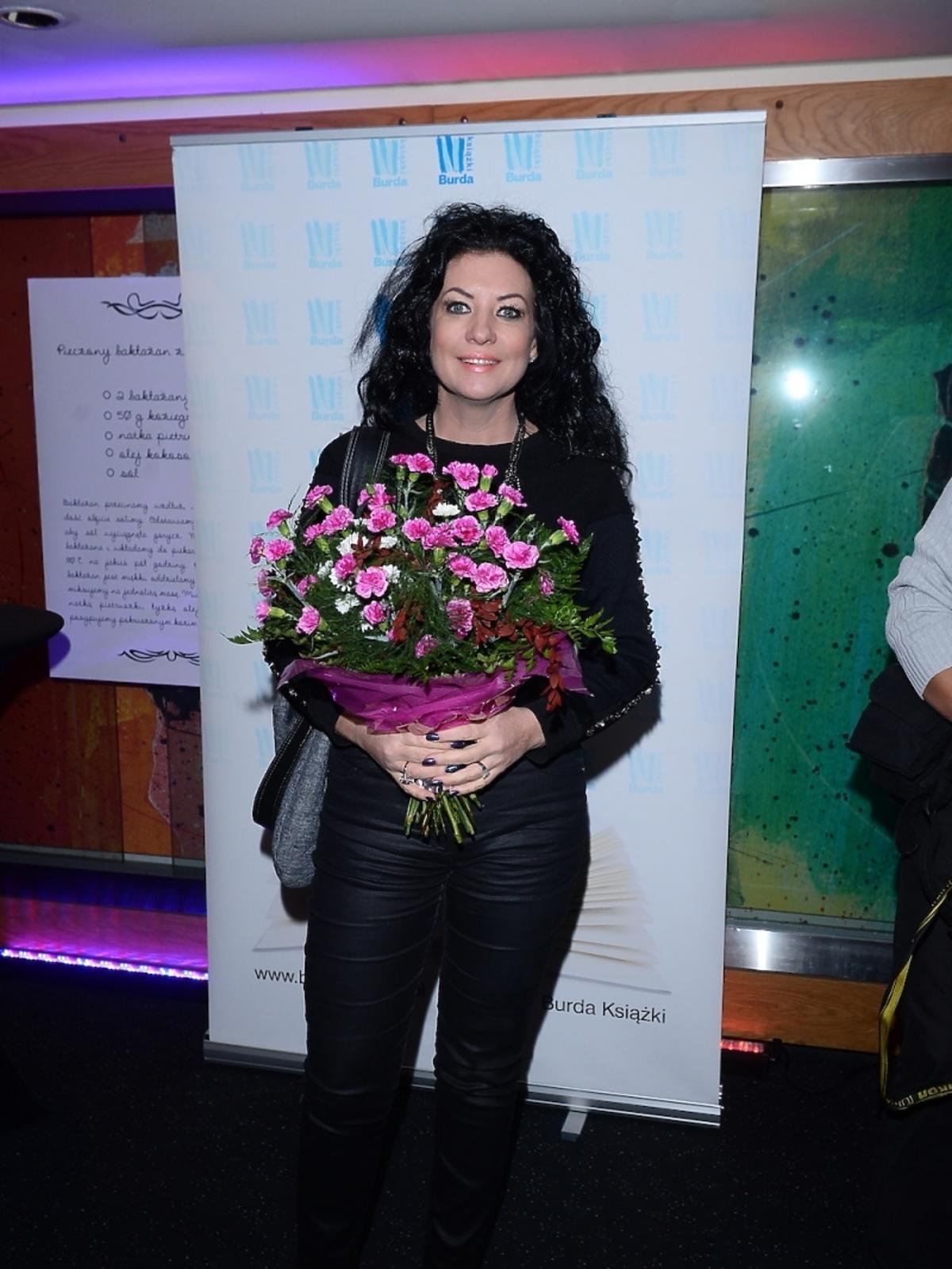 Alicja Węgorzewska na premierze książki Agaty Młynarskiej