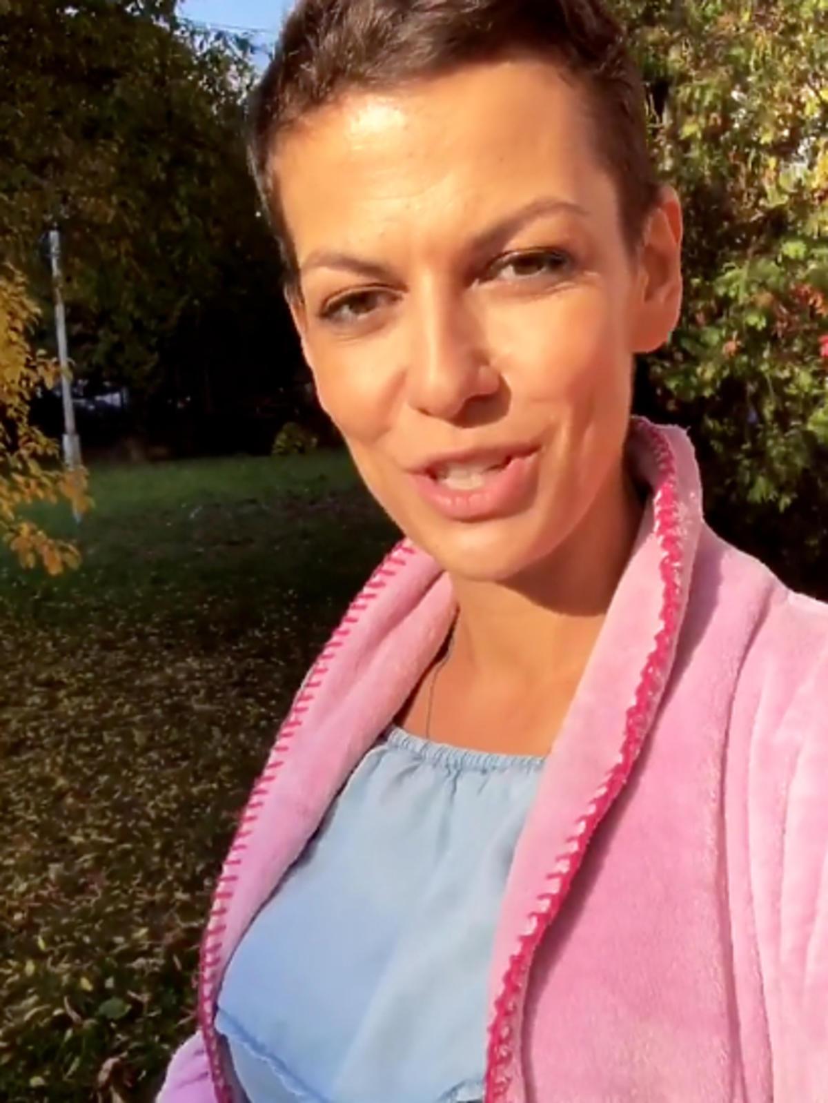 Alżbeta Lenska w ciąży