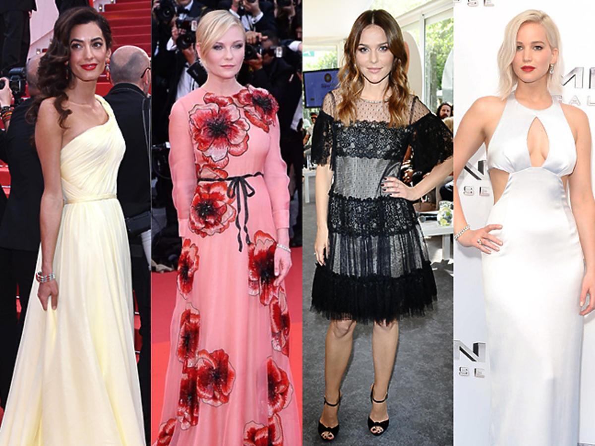 Amal Clooney, Kirsten Dunst, Paulina Sykut, Jennifer Lawrence, Blake Lively w pięknych sukniach