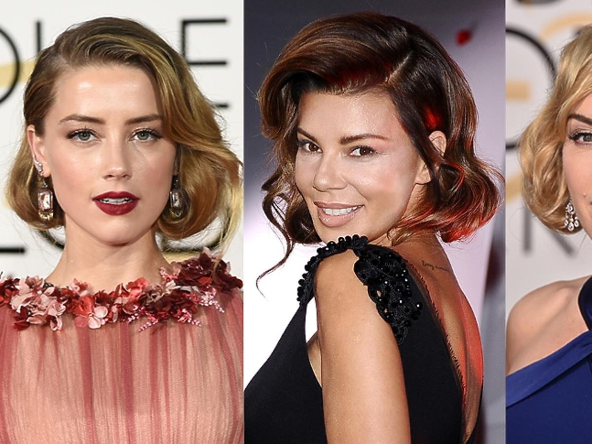 Amber Heard, Edyta Górniak, Kate Winslet w spiętych włosach