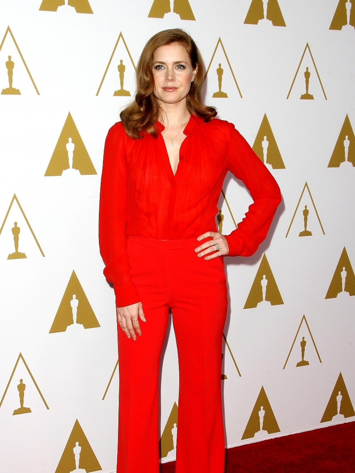 Amy Adams podczas konferencji prasowej nominacji do Oscarów 2014