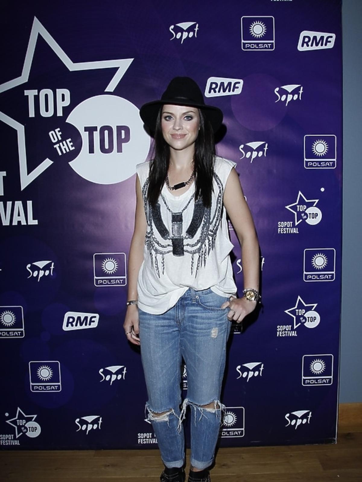 Amy Macdonald na konferencji festiwalu Top of the Top 2013 w Sopocie