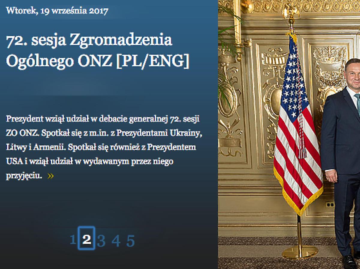 Andrzej Duda, Donald Trump, Melania Trump