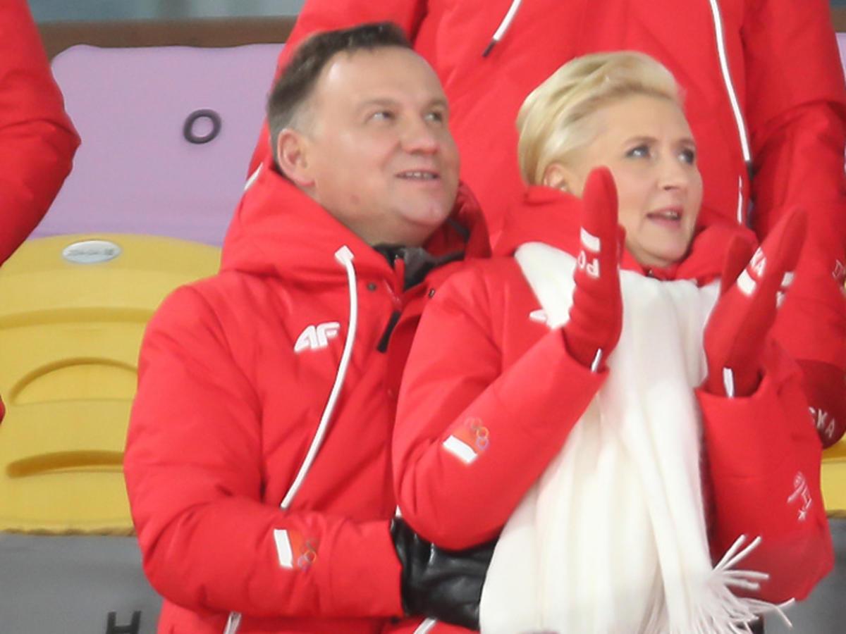 Andrzej Duda i Agata Duda na igrzyskach olimpijskich w Pjongczangu