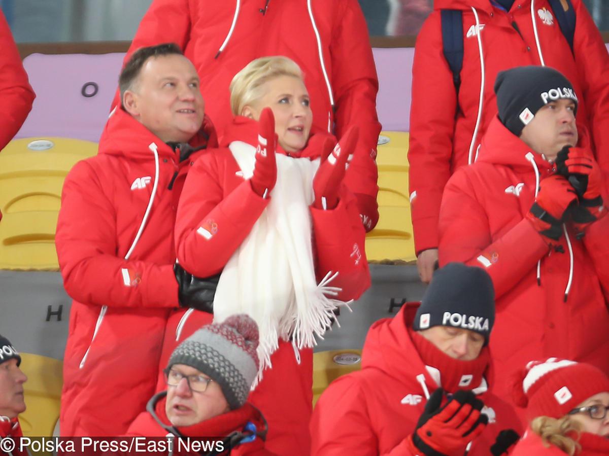 Andrzej Duda i Agata Duda na Zimowych Igrzyskach Olimpijskich w Korei Południowej.