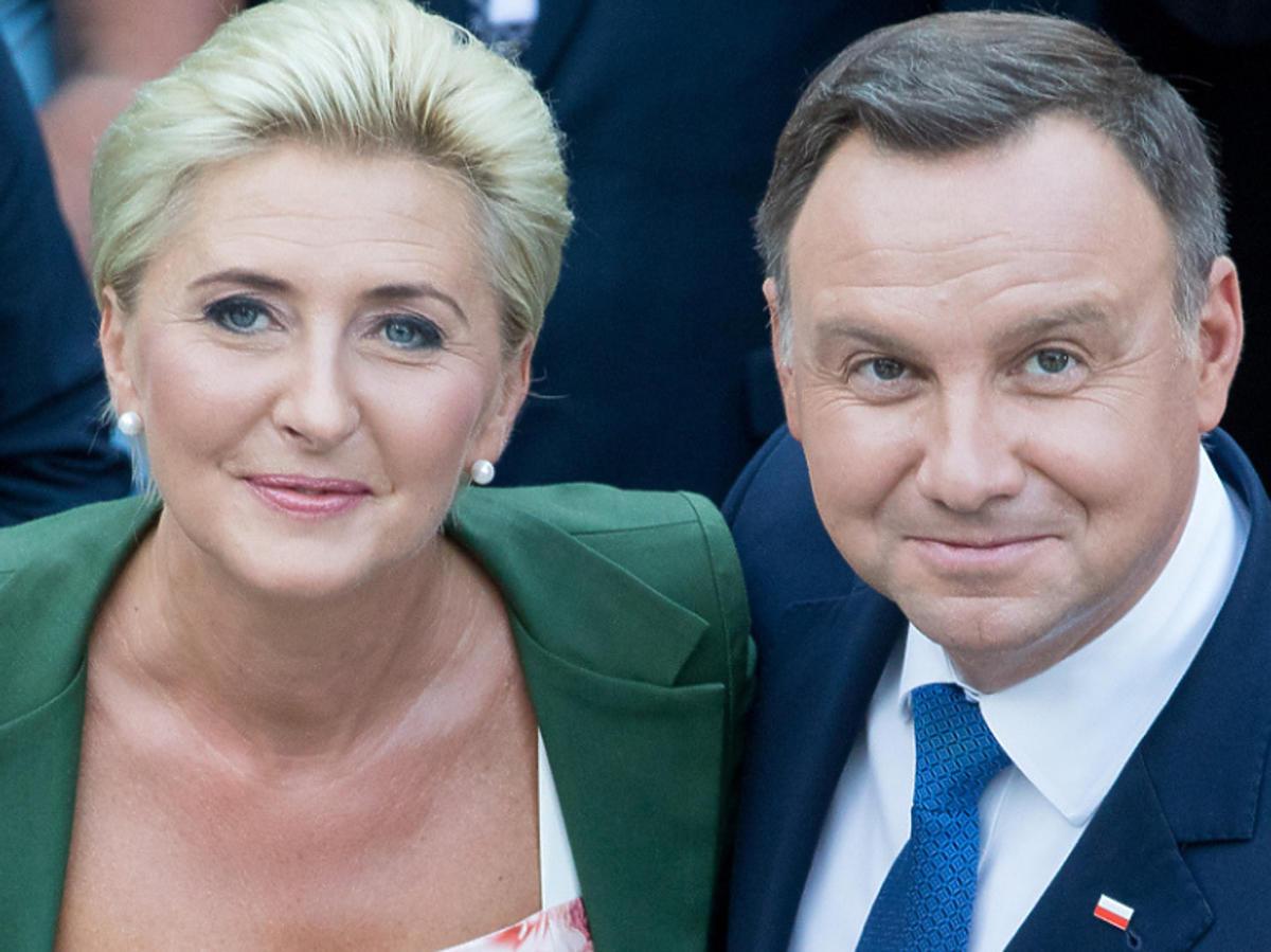 Andrzej Duda i Agata Duda podczas spotkania z uczestnikami V Światowego Zjazdu Polaków i Polonii