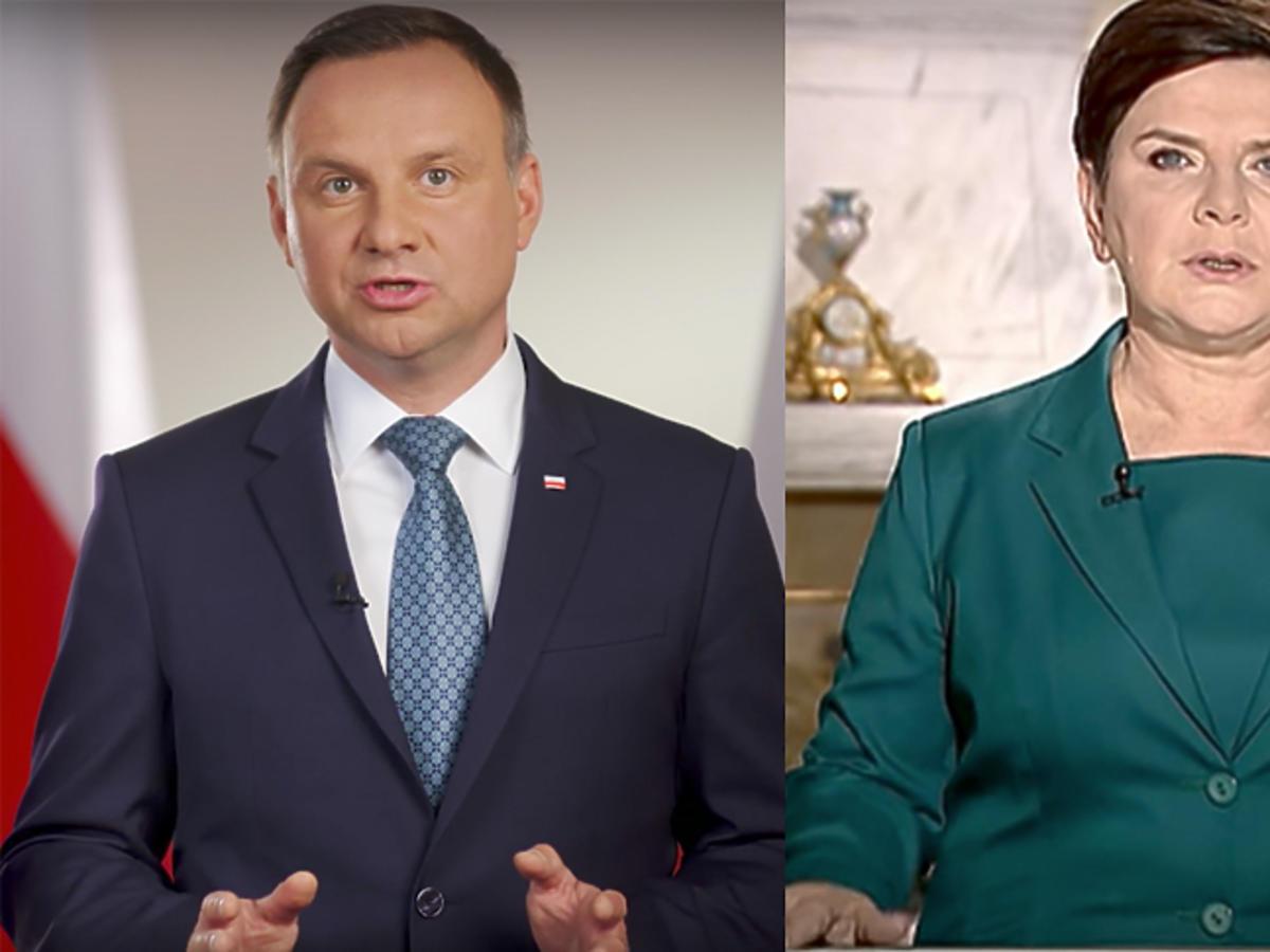 Andrzej Duda i Beata Szydło - orędzie