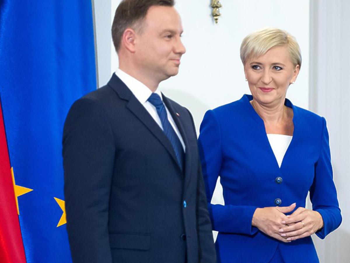Andrzej Duda tłumaczy, dlaczego Agata Duda milczy
