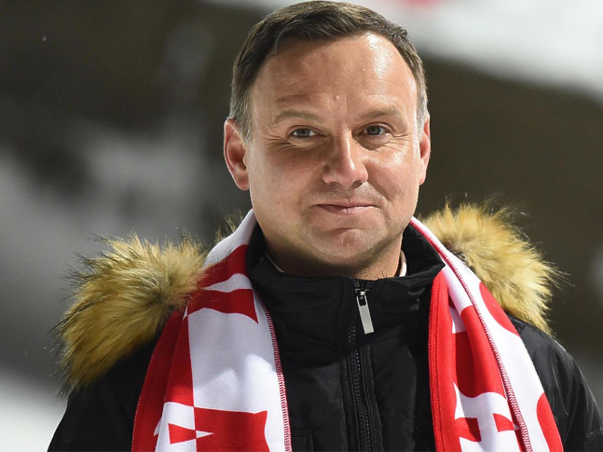 Andrzej Duda w kurtce