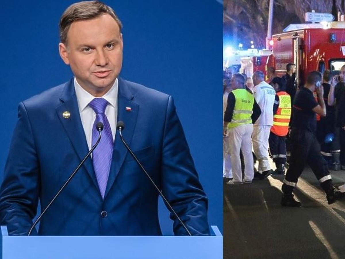 Andrzej Duda w niebieskim garniturze