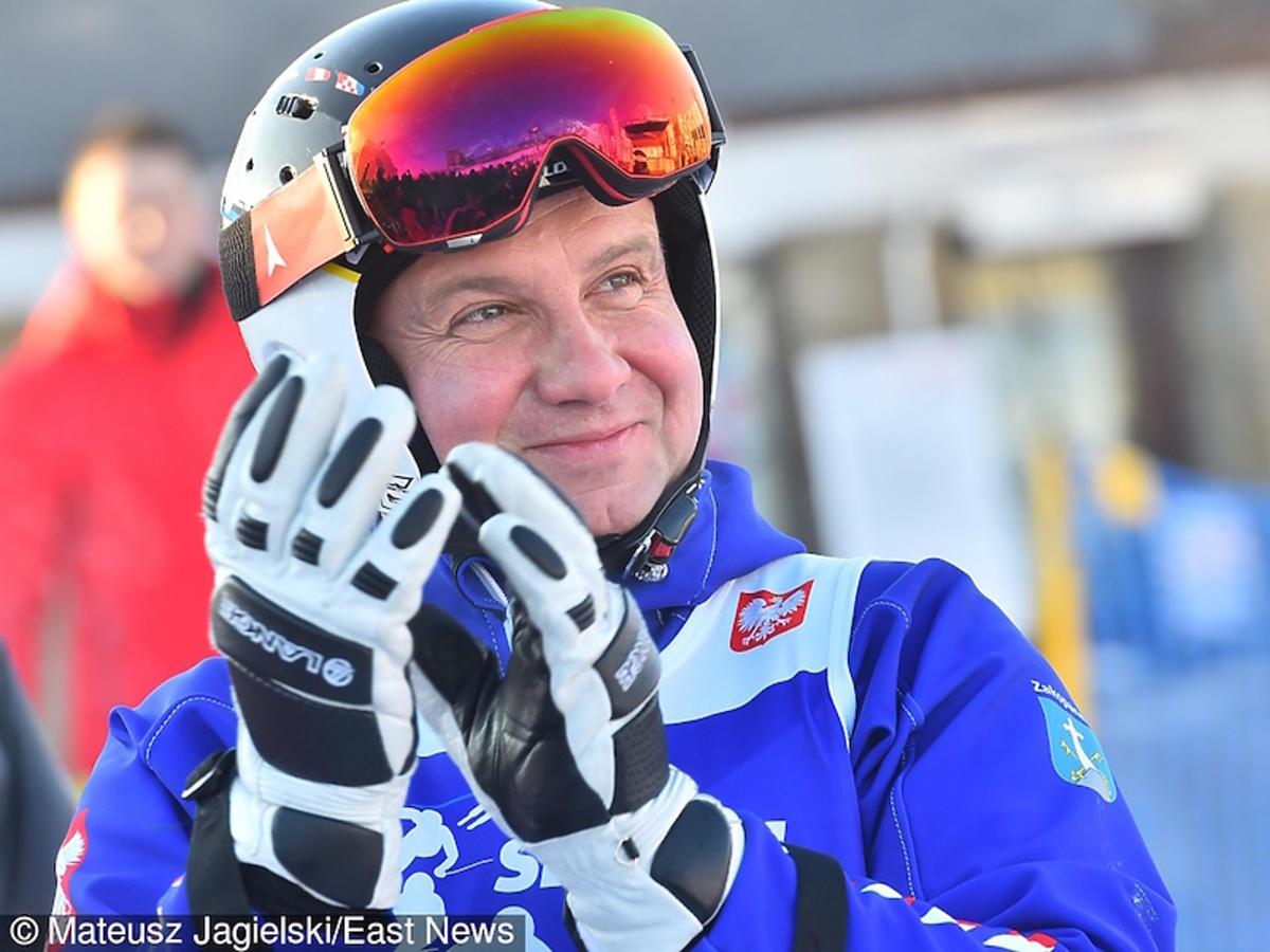 Andrzej Duda w Zakopanem na nartach