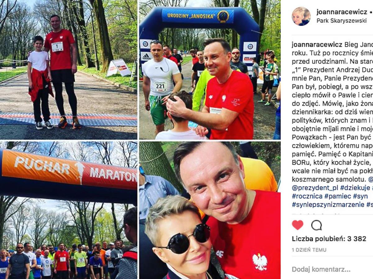 Andrzej Duda wziął udział w Biegu Janosika