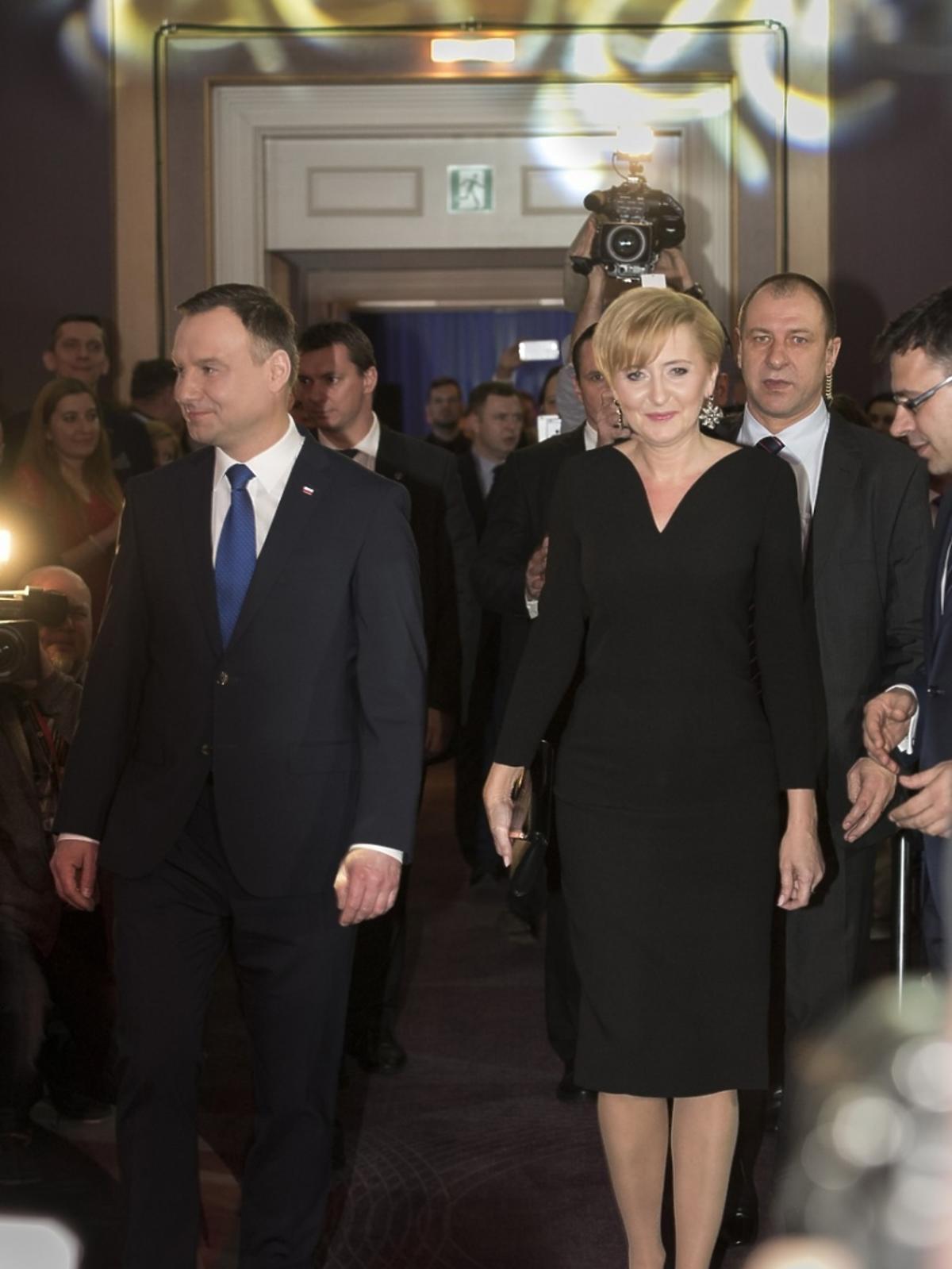 Andrzej Duda z żoną na gali tygodnika
