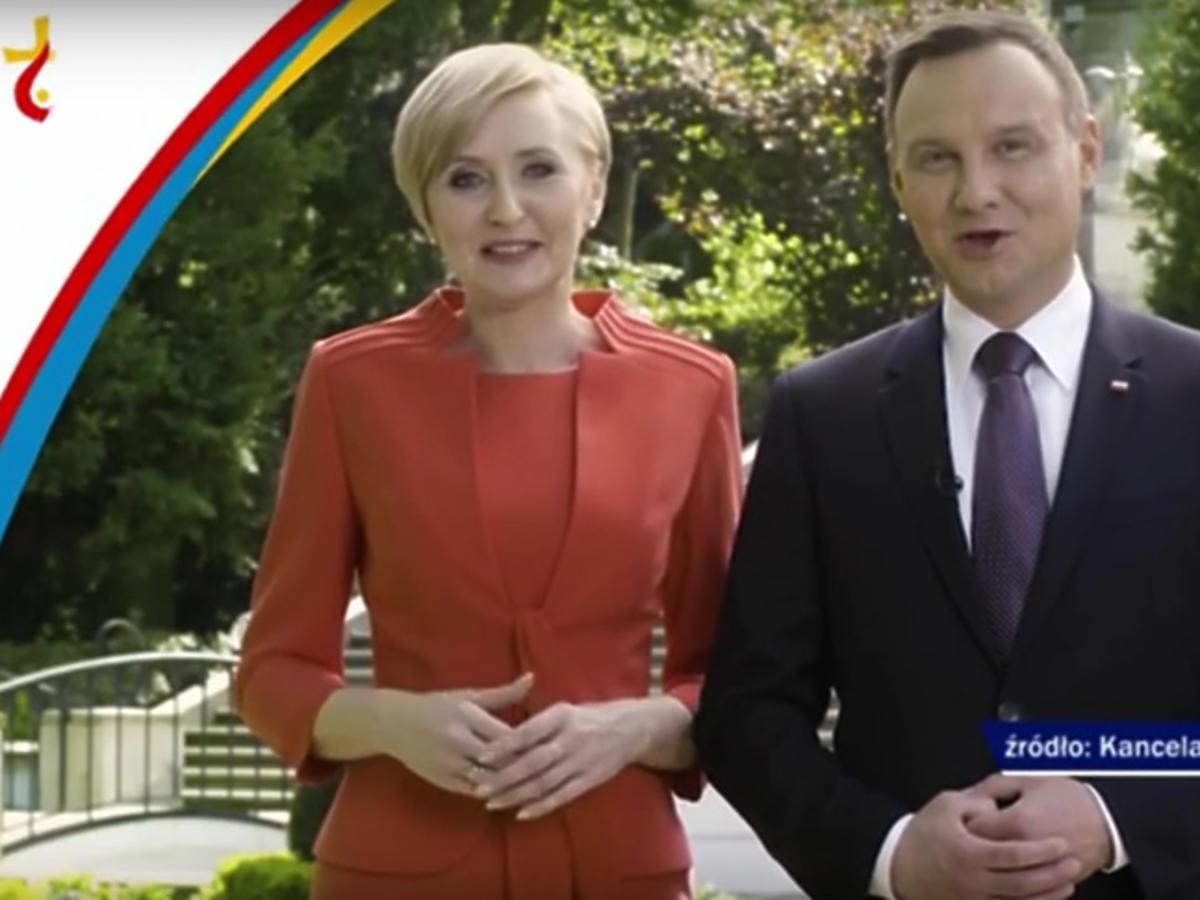 Andrzej Duda z żoną zapraszają na Światowe Dni Młodzieży