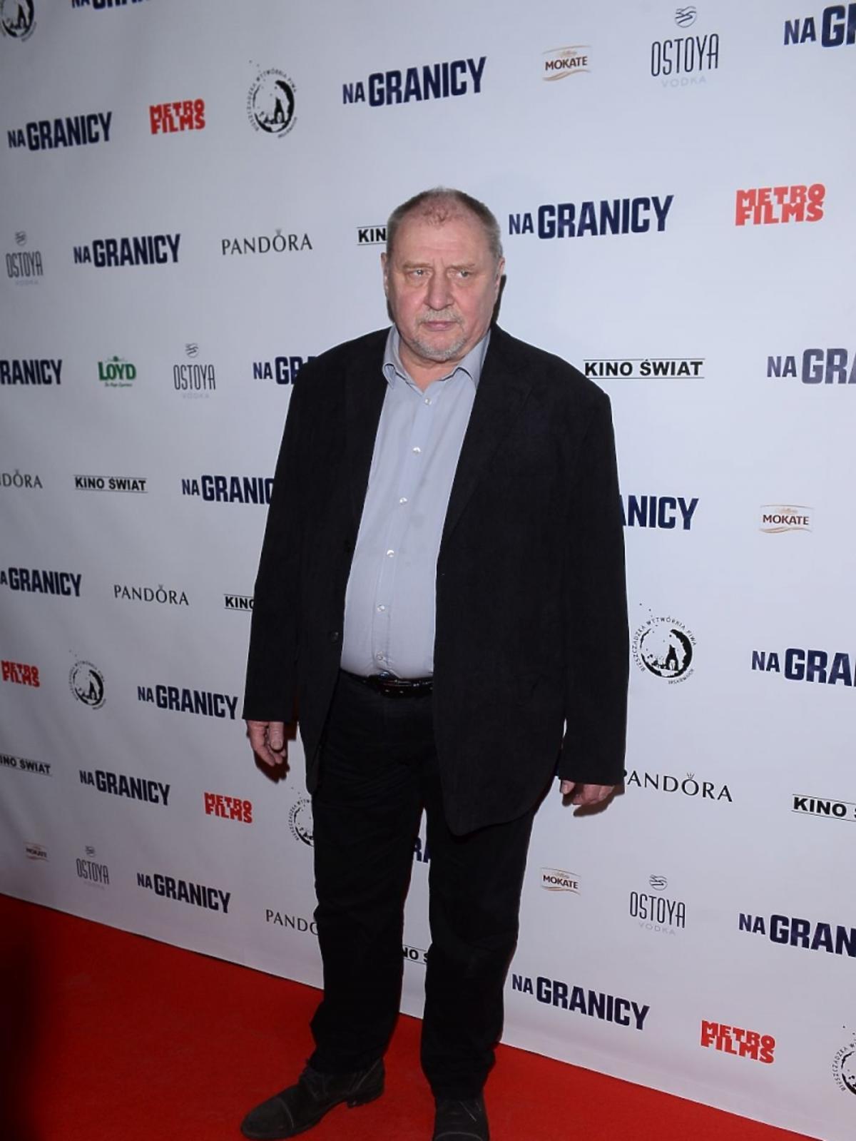 Andrzej Grabowski na premierze filmu