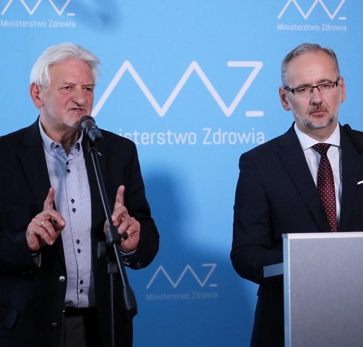 Andrzej Horban i Adam Niedzielski na konferencji prasowej