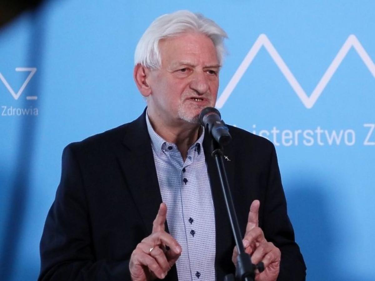Andrzej Horban na konferencji prasowej