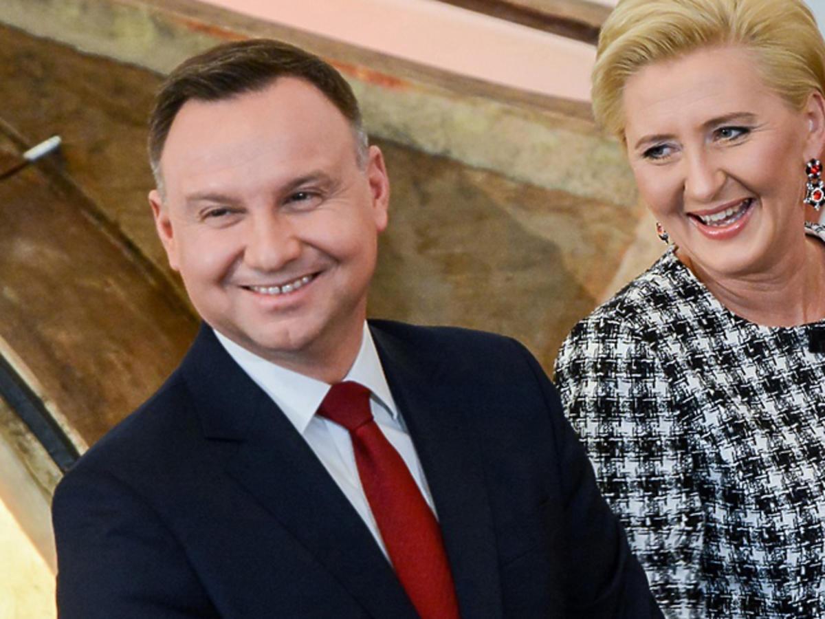 Andrzej i Agata Dudowie na weselu
