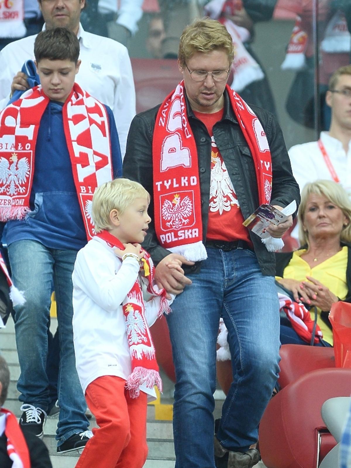 Andrzej Nejman na meczu Polska - Niemcy