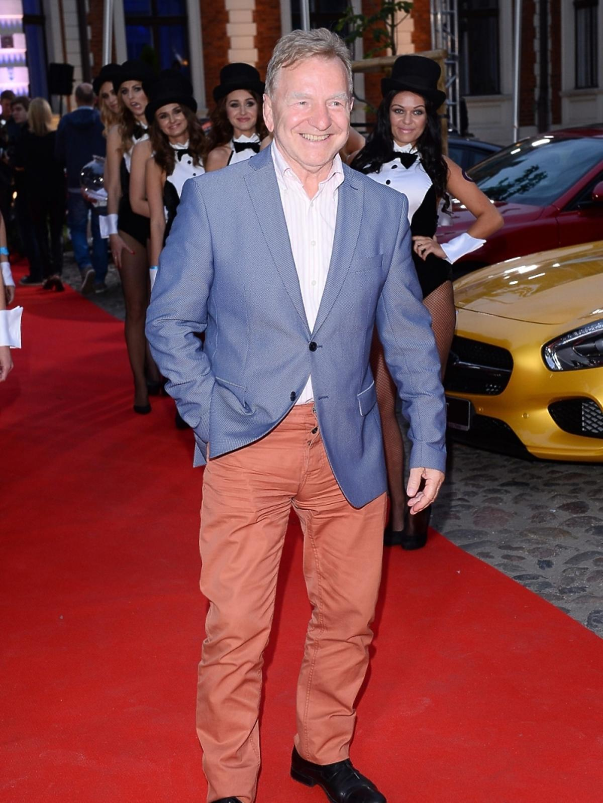 Andrzej Supron na imprezie Samochód Roku Playboya