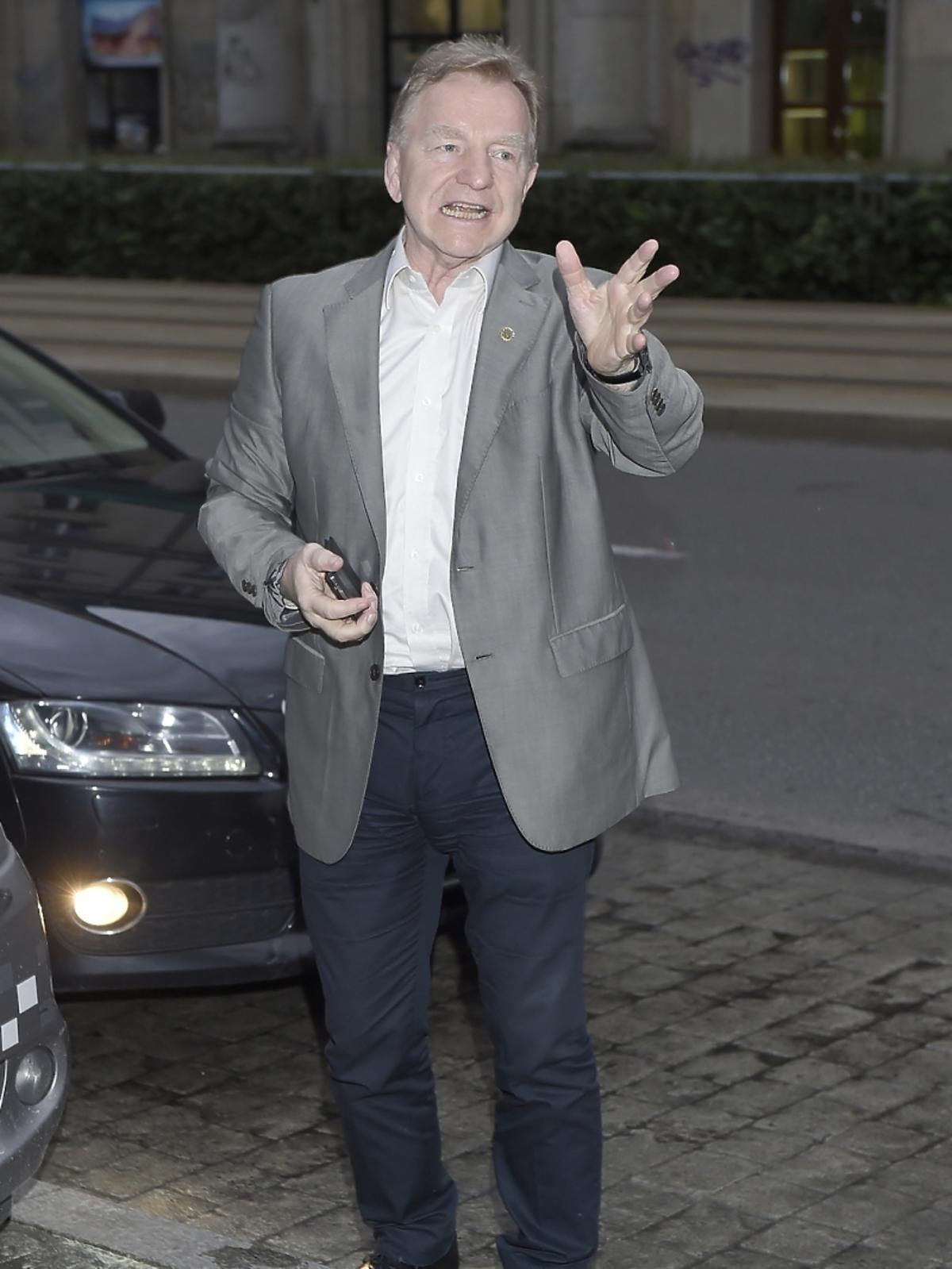 Andrzej Supron na premierze filmu