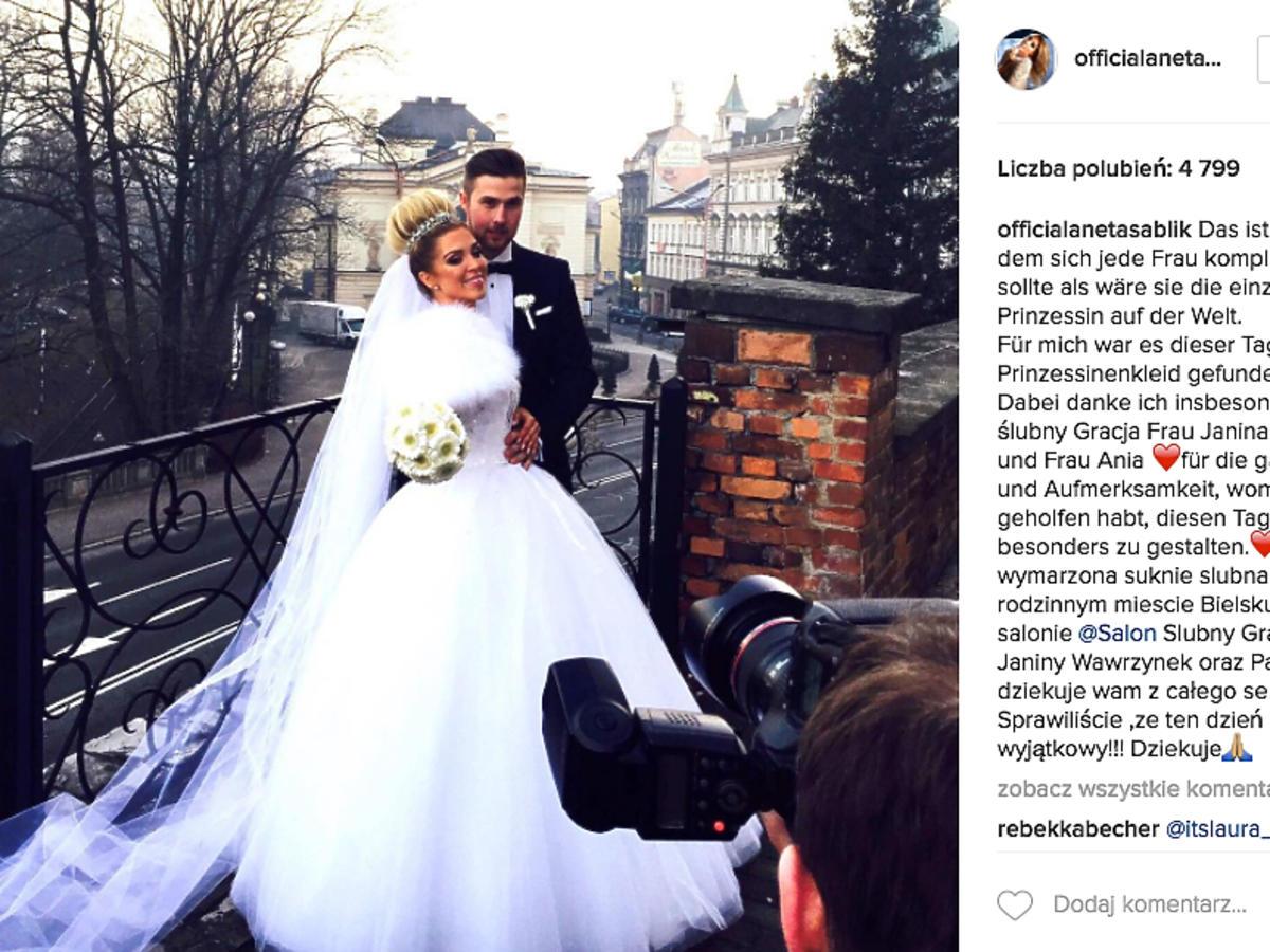 Aneta Sablik wzięła ślub