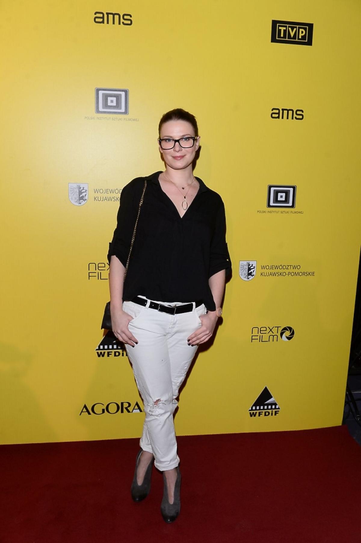 Aneta Todorczuk Perchuć na premierze filmu